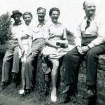 Barbara of an outing to Trafford Mill in 1950 with family including her father Val, left