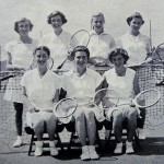 Front row centre in the WHS 1950 first tennis team